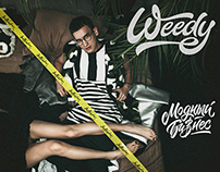 "Lettering for  ""Weedy Модный бизнес"""