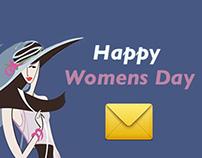 Communication Mailer Design for Womens day celebration