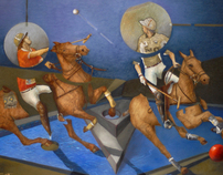 POLO PAINTINGS & DRAWINGS by William Rossoto