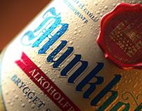 3D Munkholm Beer Bottle - Advertising Imagery