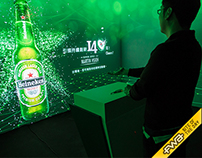 Heineken Time Traveler Interactive with Leap Motion