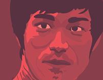 Bruce Lee Illustrated Portrait