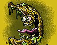 Bad Banana Lowbrow Food Cartoon Character Sketch