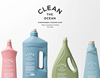CLEAN THE OCEAN. BIODEGRADABLE CLEANING AGENT.