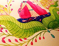 illustration book2绘本《奔跑的植物》