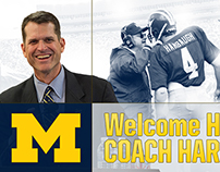 """""""Welcome Home Coach Harbaugh"""" Graphics"""