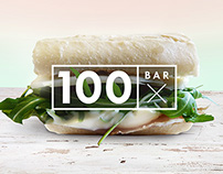 100XBAR logo design and identity