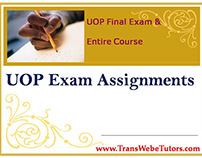 BCOM 475 Week 3 Complete UOP EXAM ASSIGNMENTS