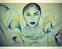 Sade Illustration Portrait