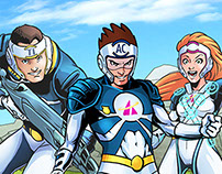 Actimel Team APP videos & Collectible Wraps Comics