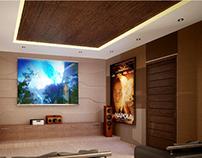 3D conceptual render of Entertainment room