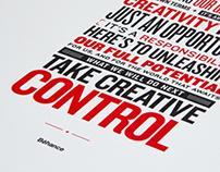 Behance Manifesto - Letterpress Poster