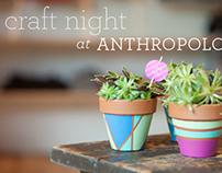 Anthropologie Craft Night