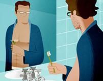 GQ (UK) editorial illustrations