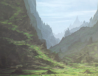 A Valley to the Sky | Speed Painting
