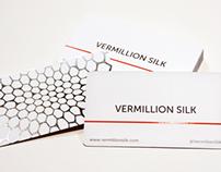 Vermillion Silk Business Cards