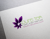 Pure Ten Natural Nail Bar Logo Design