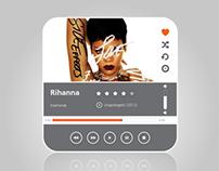 Music Player Flat UI