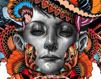 CD cover designs : FAIR HERON/ flaKo/ amos showtime