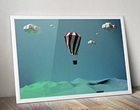 Explore: Simple Low Poly Poster