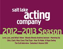 Salt Lake Acting Company 2012-13 Season Graphics