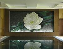 Glass and Black Slate Mosaic - Lough Erne Hotel