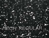 Mech Regular Typeface