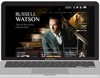 Website design for the classical singer Russell Watson