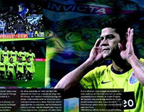 Design layout for football magazine.