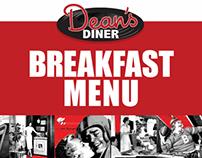 Breakfast Menu for Dean's