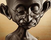 Gandhi Caricature