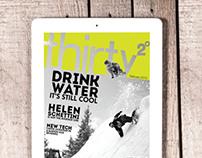 Thirty Two Degrees Digital Snowboard Magazine Rebrand
