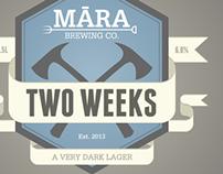 Māra Beer labels
