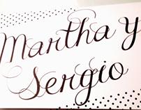 INVITACION DE BODA MARTHA Y SERGIO