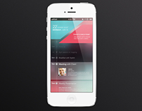 Today's Schedule app UI
