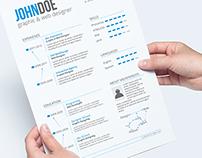 4-piece Professional Resume / CV
