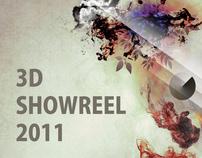 3D SHOWREEL 2011