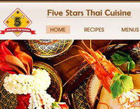 5Stars Thai Restaurant Website