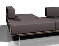 BQ 17 bent wood modular sofa system