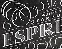 Starbucks Espresso Guide Typographic Mural