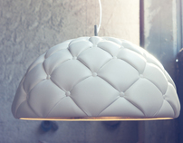 Clamp - leather pendant lamp