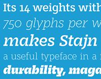 Stajn Pro Type Family — free weight Book DEMO