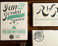 Ian & Jess's wedding invitation.