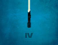 Star Wars Prints: Minimalist Lightsabers