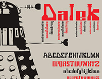 DALEK Typeface for Doctor Who