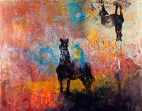 Seven Deadly Sins - Dye Transfer Paintings