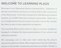 NBC'S Education Nation in Rockefellar Plaza, 9/10