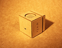 Little Brown Box -Card Crafted Speaker