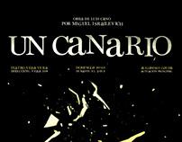 Afiche de teatro - Un Canario