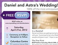 Groupon Themed Wedding Invitation & materials